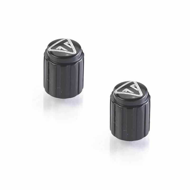 Triumph Laser Etched Black Valve Caps