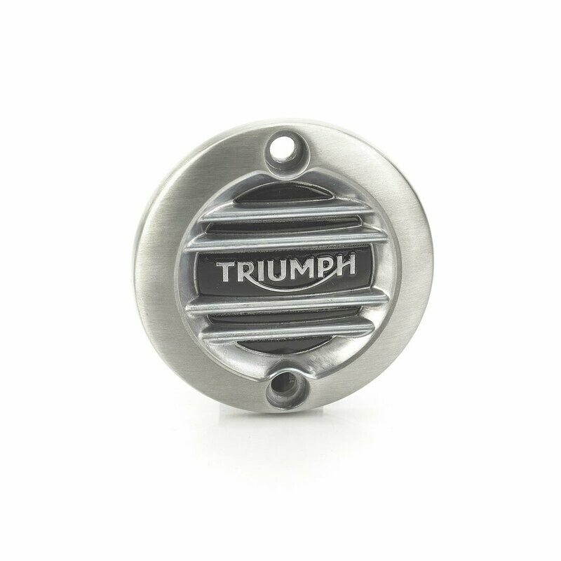 Triumph Brushed Ribbed ACG Inspection Cover