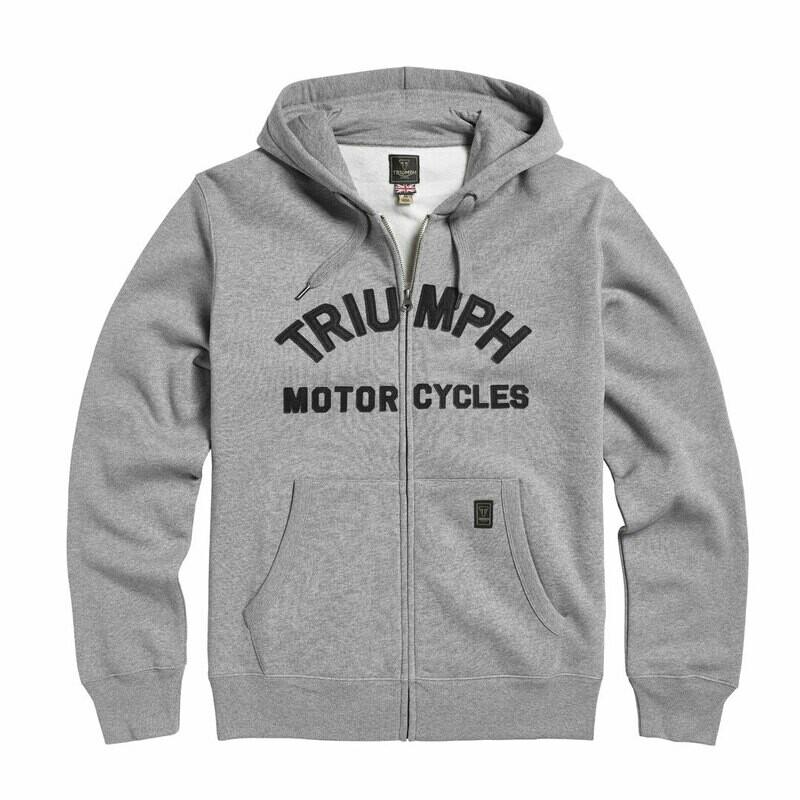 Triumph Lavenham Gray Fleece Hoodie