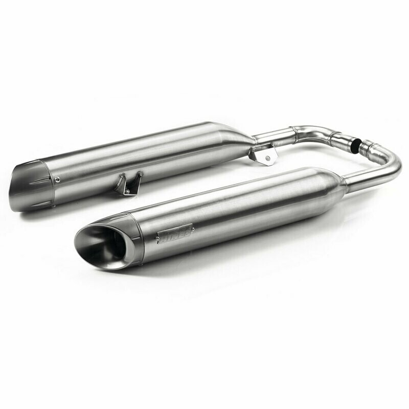 Triumph Brushed SS Vance & Hines Bobber Slip On Exhaust