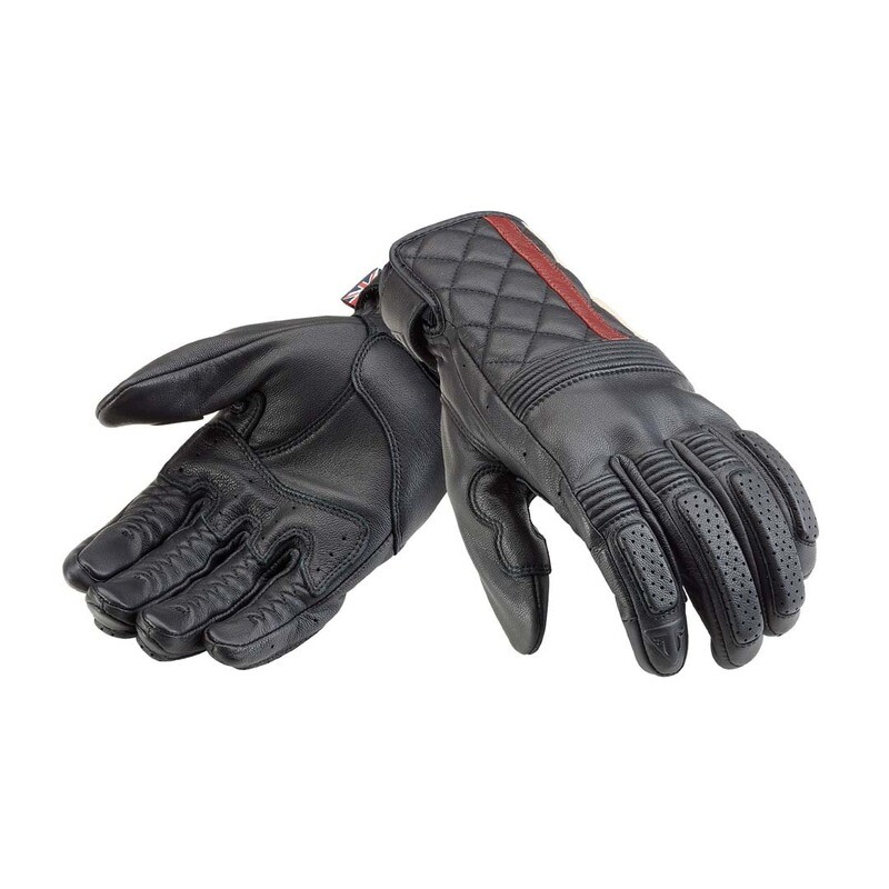 Triumph Sulby Black Leather Motorcycle Gloves