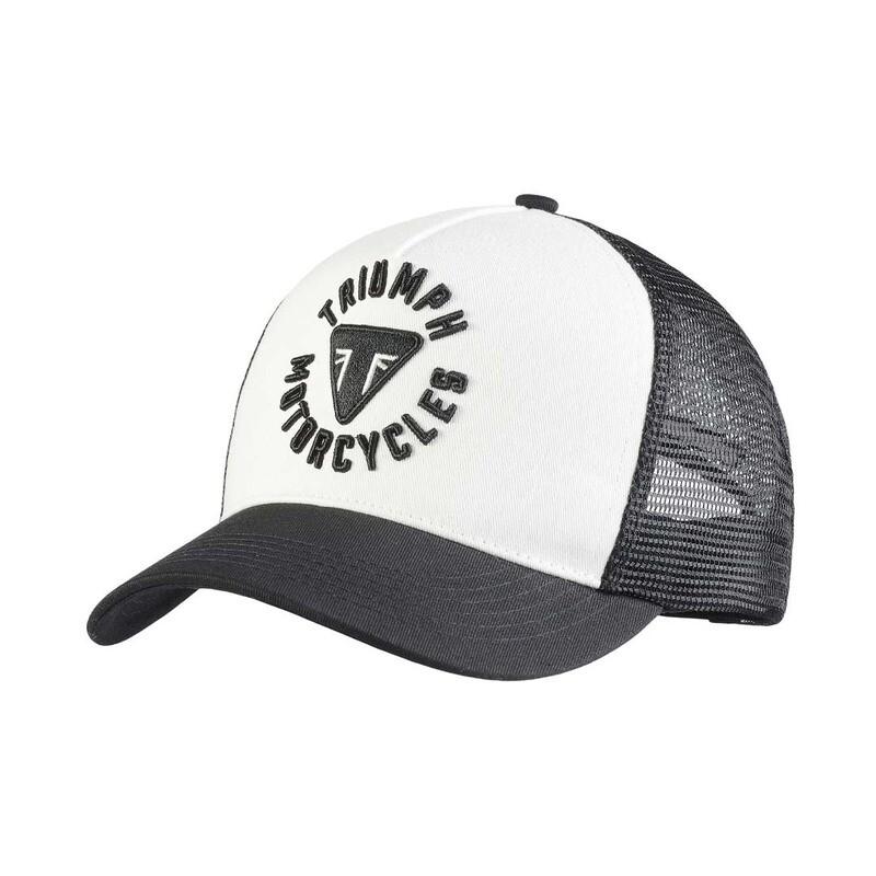 Triumph Taylor Embroidered Black & White Trucker Hat
