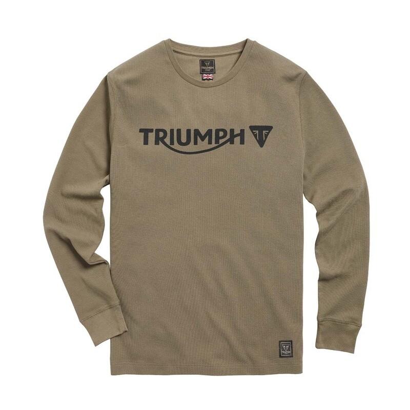 Triumph Bettmann Long Sleeve Khaki Waffle Tee