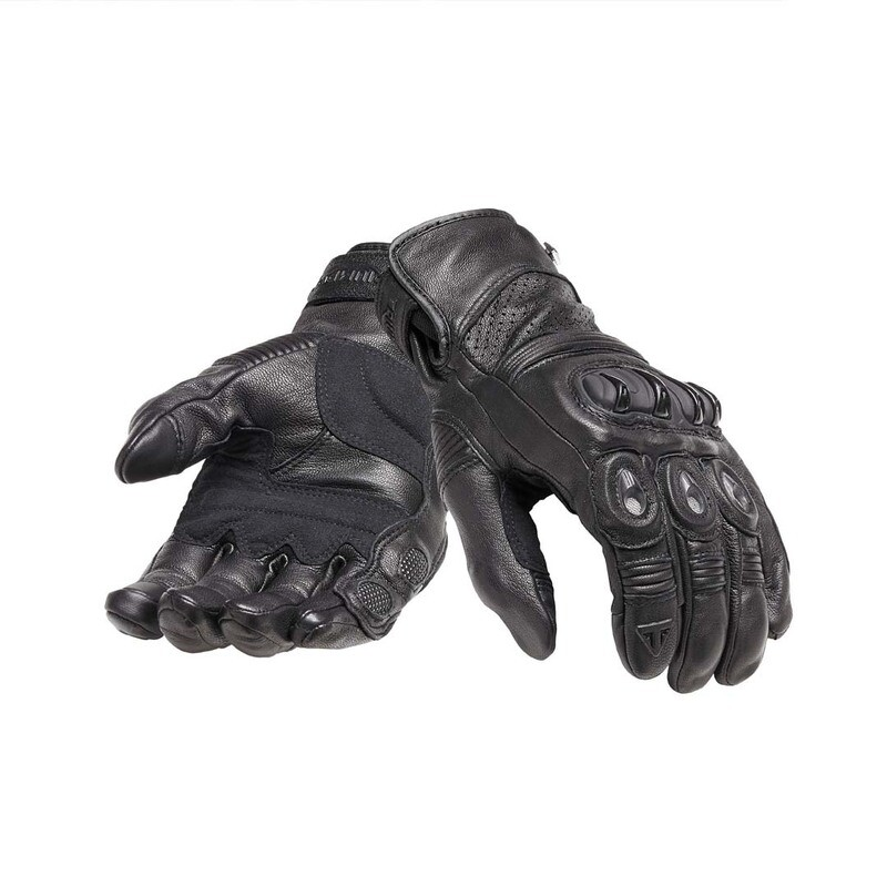 Triumph Brookes Black Leather Motorcycle Gloves