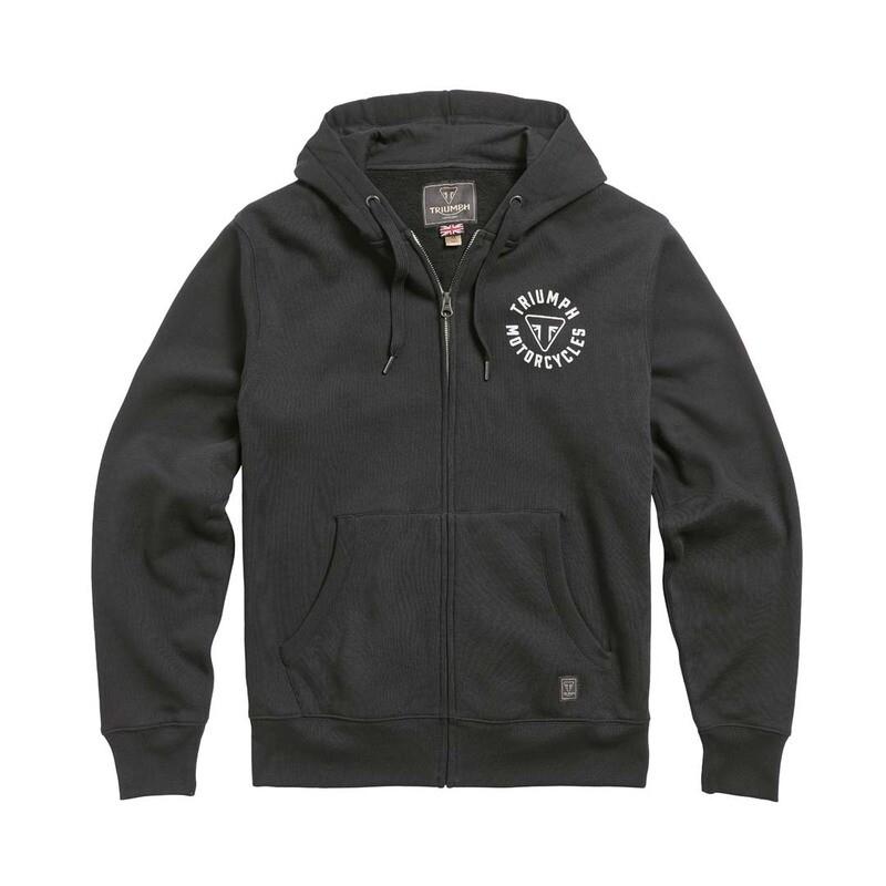 Triumph Digby Full Zip Black Hoodie