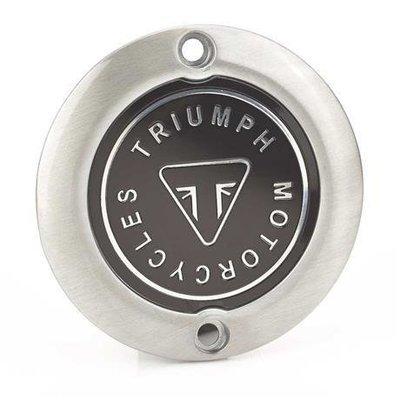 Triumph Brushed Badge Clutch Cover