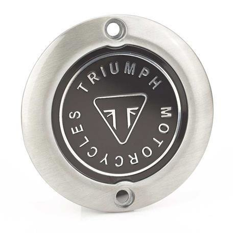 Triumph Brushed Badge Clutch Cover