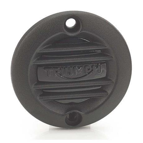 Triumph Black Ribbed Inspection Cover