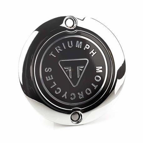 Triumph Chrome Badge Clutch Cover
