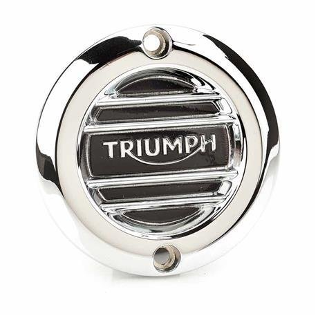 Triumph Ribbed Chrome Inspection Cover