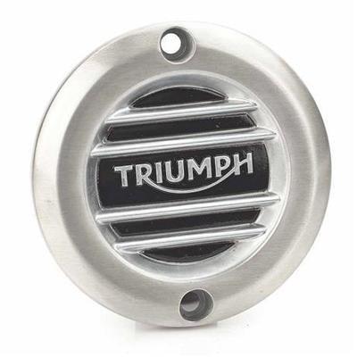 Triumph Ribbed Brush Aluminum Clutch Cover