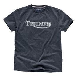 Triumph Vintage Charcoal Logo Tee