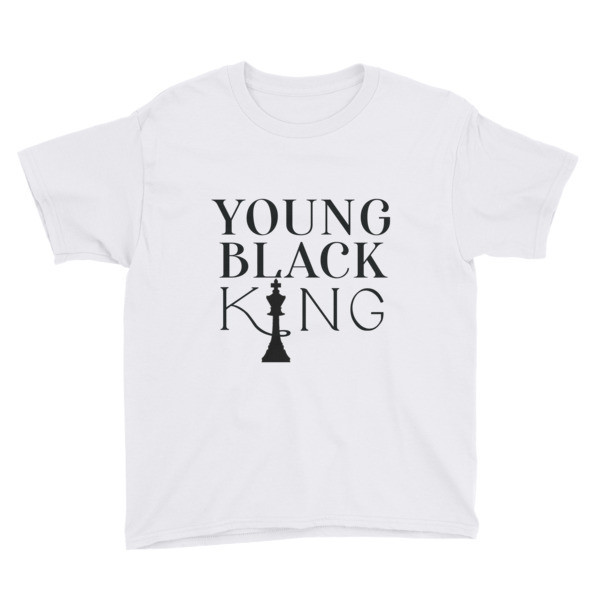 Young Black King Youth T-shirt