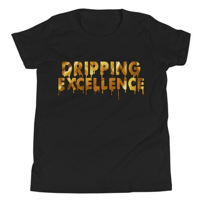 Dripping Excellence (Gold) Youth Short Sleeve T-Shirt
