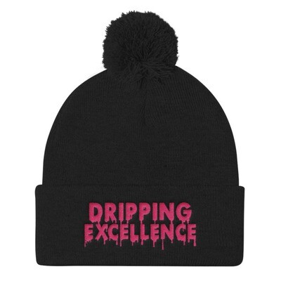 Dripping Excellence Pom Pom Knit Cap