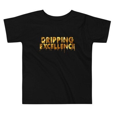 Dripping Excellence (Gold) Toddler Short Sleeve Tee