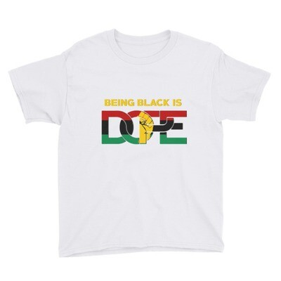 Being Black is DOPE Youth Short Sleeve T-Shirt