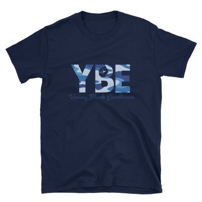 Blue Camo Short-Sleeve Unisex T-Shirt