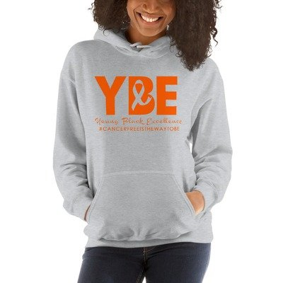Leukemia/Kidney Cancer Ribbon Hooded Sweatshirt