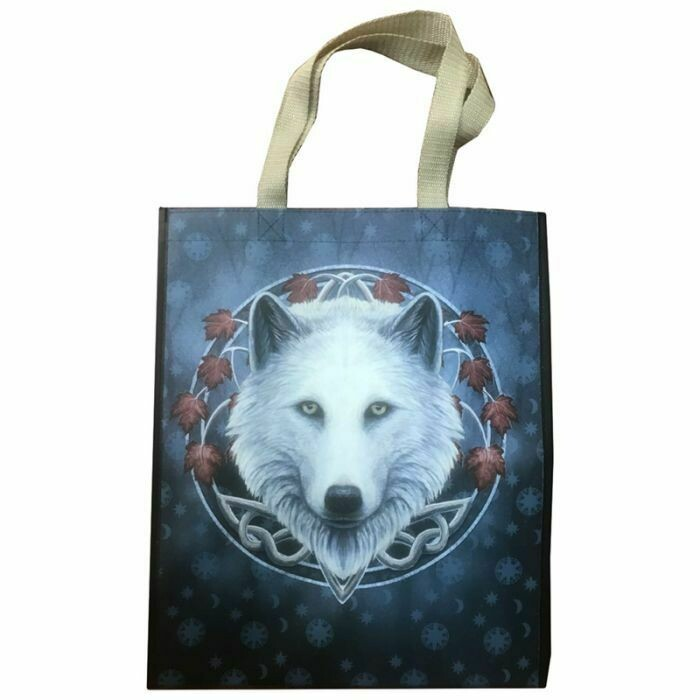 """Lisa Parker """"Guardian Of The Fall""""  Wolf Design Tote/ Shopping Bag"""