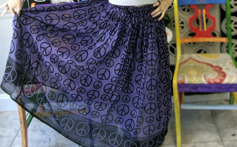 Purple Peace Sign Skirt