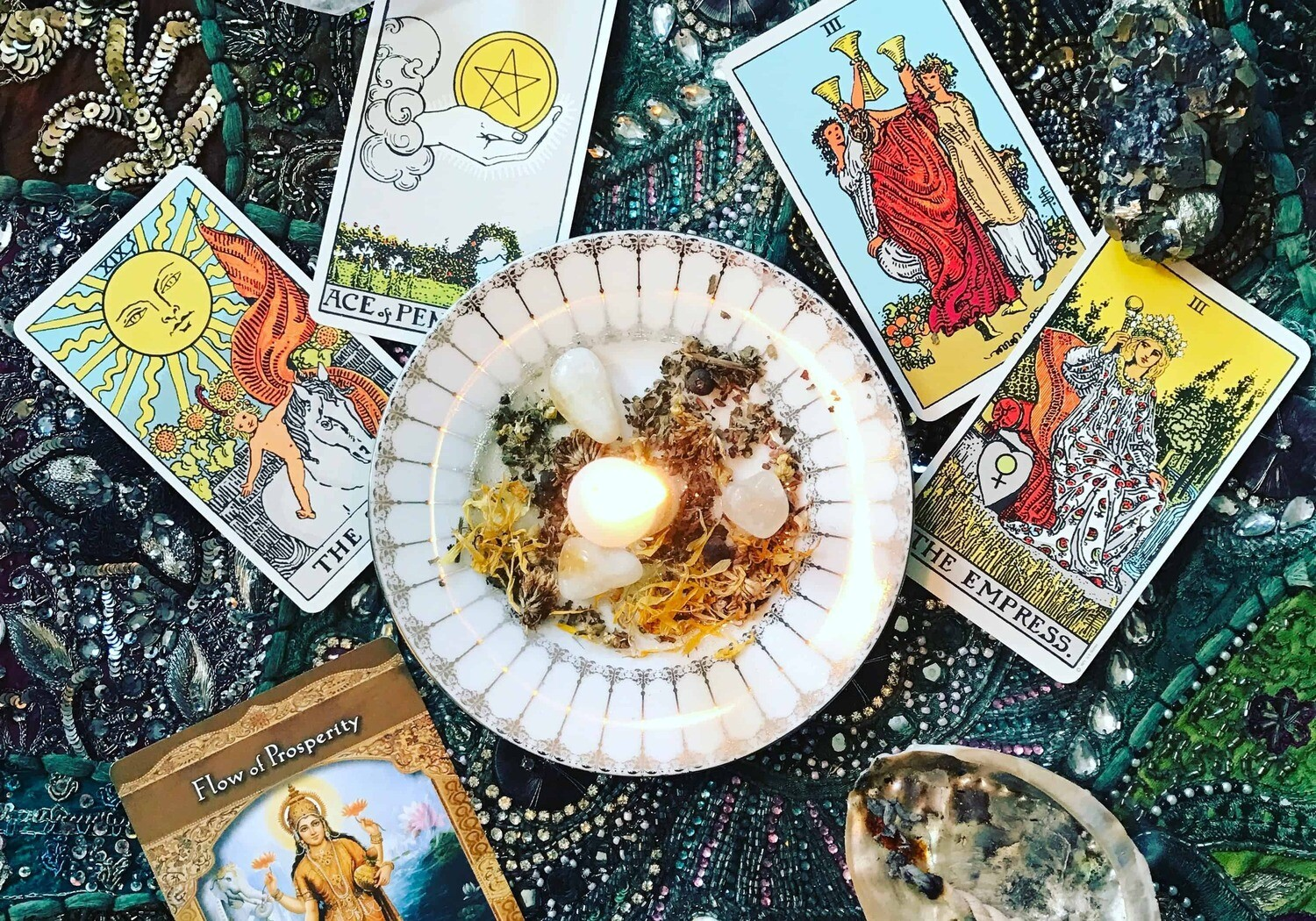 Tarot Card Reading PLUS, Bonus Oracle Card pull AND Crystal Grid Oracle Card draw with detailed explanation.