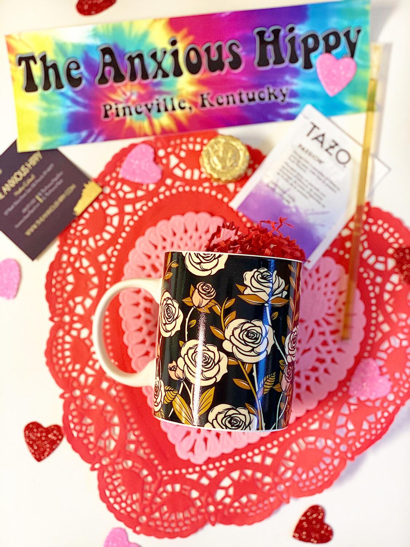 Skull and Roses Color Change Mug Gift Set
