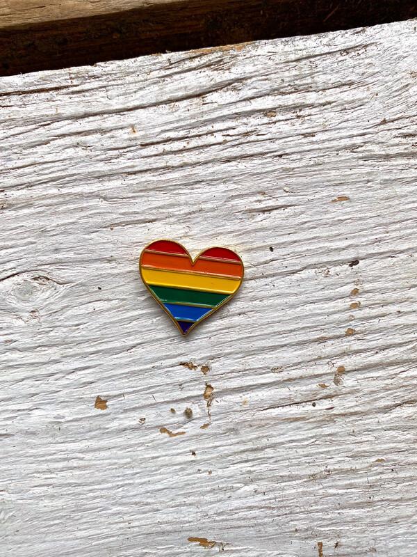 Pride Heart Enamel Pin