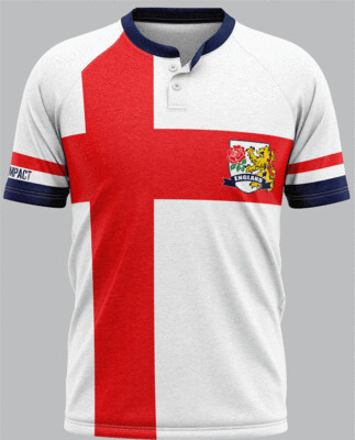 England Flag Supporters Rugby Jersey