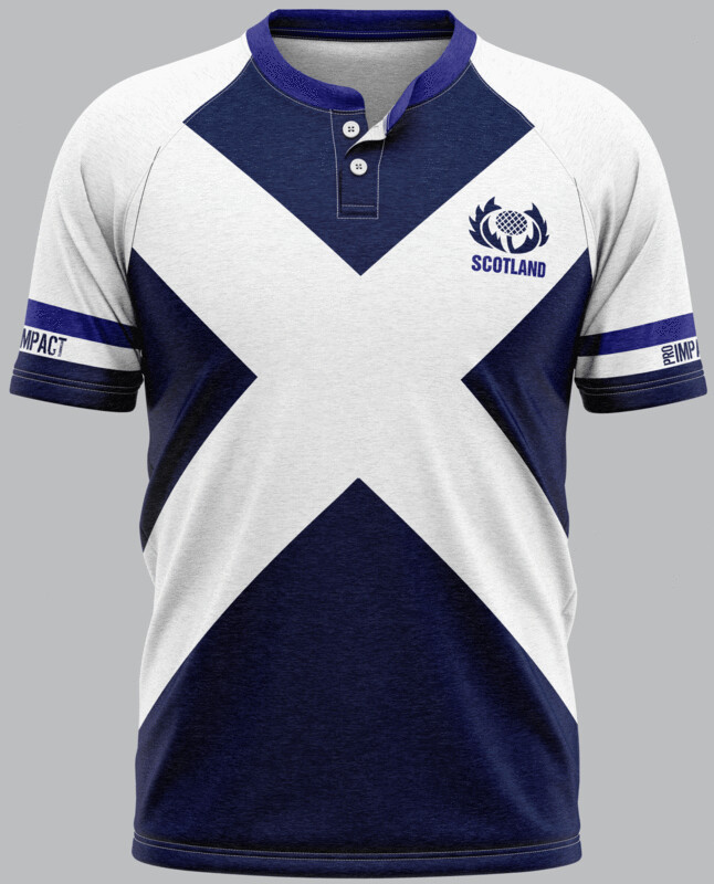 Scotland Flag Supporters Rugby Jersey