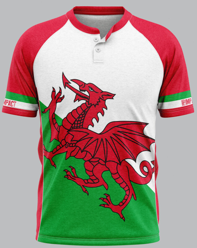 Wales Flag Supporters Rugby Jersey