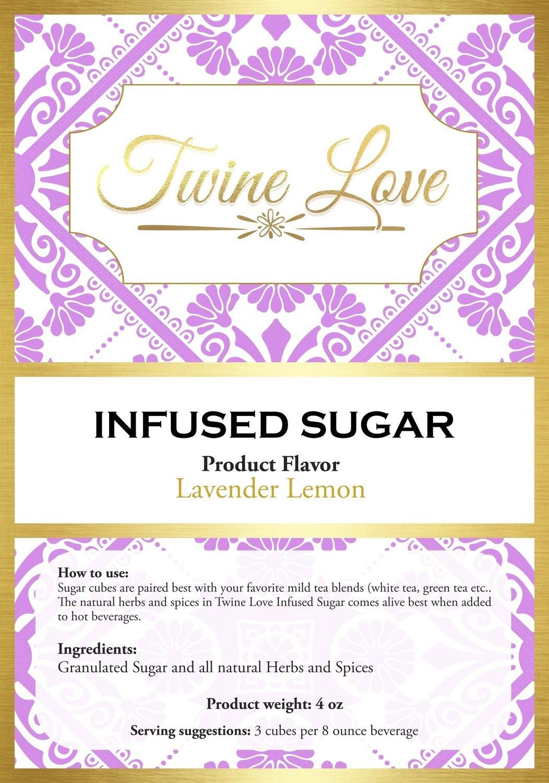 Lavender Lemon Infused Sugar Cubes 7 Ounce
