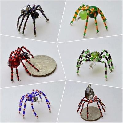 Beaded Spiders / Halloween Spiders/ Christmas Tree Spiders