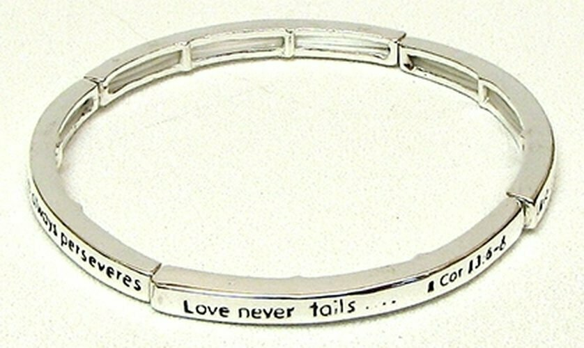 Stackable Stretch Bangle 1 Cor. 13:6