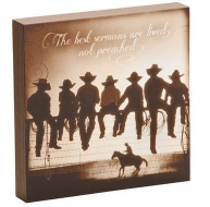 Cowboy Lessons Learned Wall Art