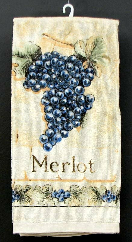 Merlot Grape Hand Towel