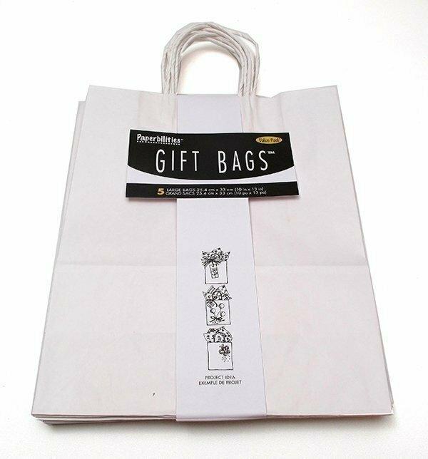 Gift Bag White Pack 5