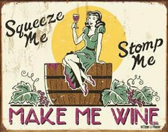Tin Sign Moore - Make me Wine