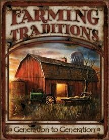 Tin Sign Farming Traditions