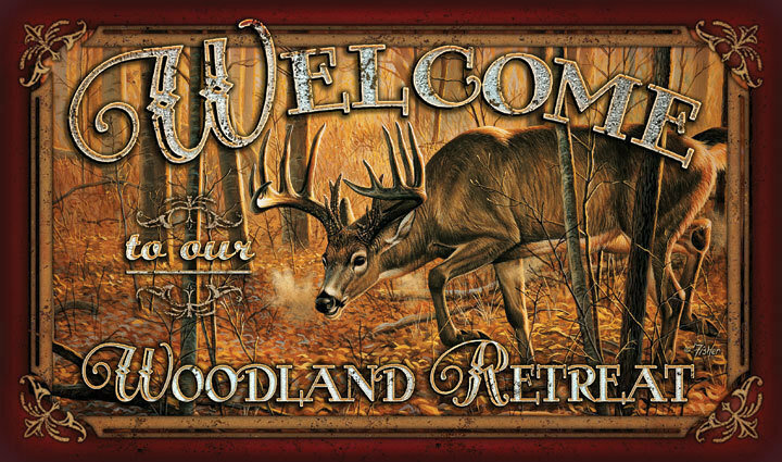 Welcome Deer Door Mat