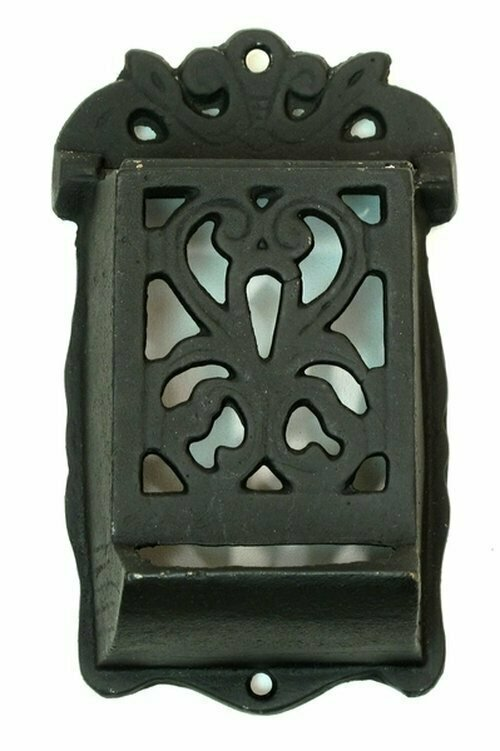 Heavy Cast Iron Match Holder Set of 2