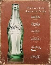 Tin Sign Coke - Script Heritage