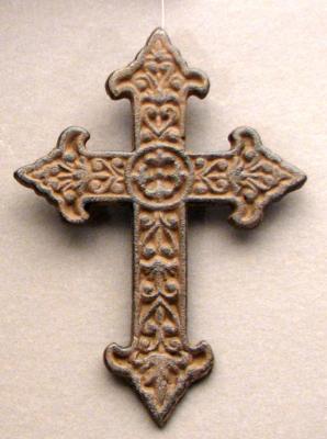 Solid Cast Iron Fleur De Lis Cross Bulk