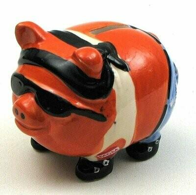 Pork Chop Biker Pig Bank