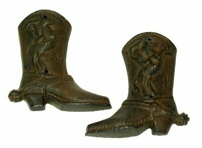 Cast Iron Western Cowboy Boots Set of 6