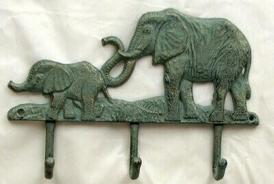 Cast Iron Elephant 3 Hooks