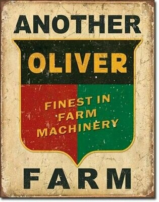 TIN SIGN Another Oliver Farm