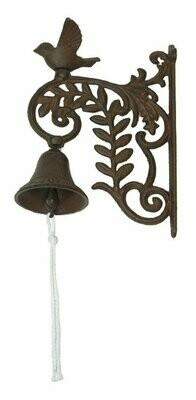 Cast Iron Wall Mount Bird Bell
