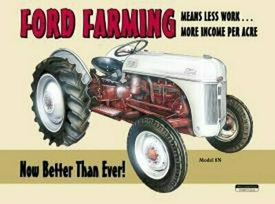 Tin Sign Ford Farming 8N