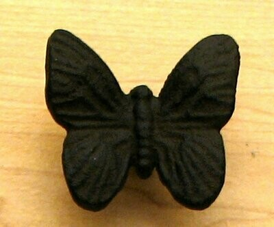 Cast Iron Butterfly Drawer Pull S/6